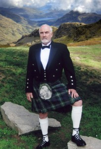 Sean Connery in a kilt
