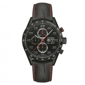 A very manly watch: the TAG Heuer Carrera Calibre 1887 Black Titanium