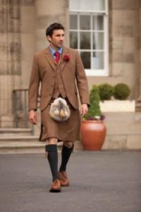 A tweed kilt
