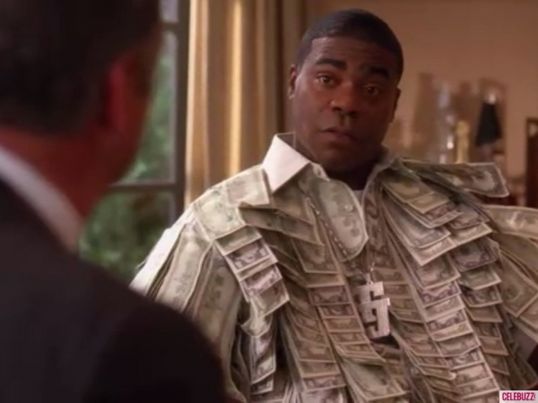 30 Rock's Tracy Morgan literally wearing his money in the shape of a suit. You don't need to do that.