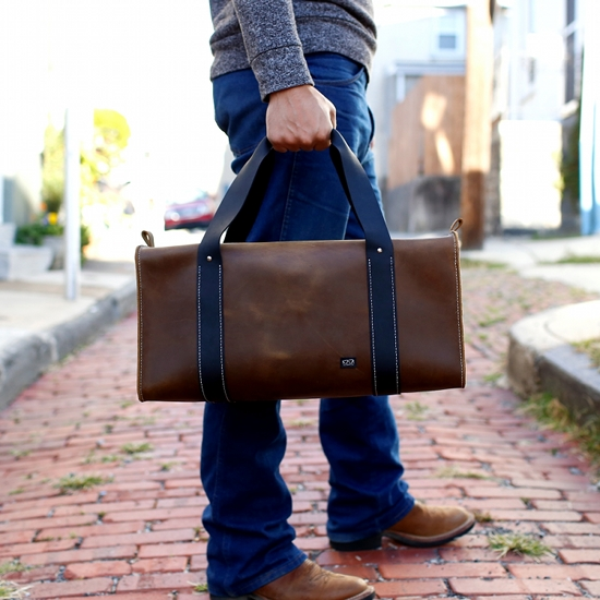 A great leather duffle bag