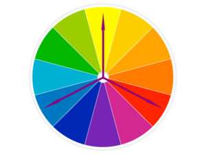 An example of triad colors