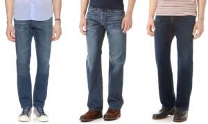 Normal cut mens jeans