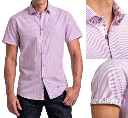 Mens shirt accent fabrics
