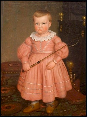 Boy painting pink