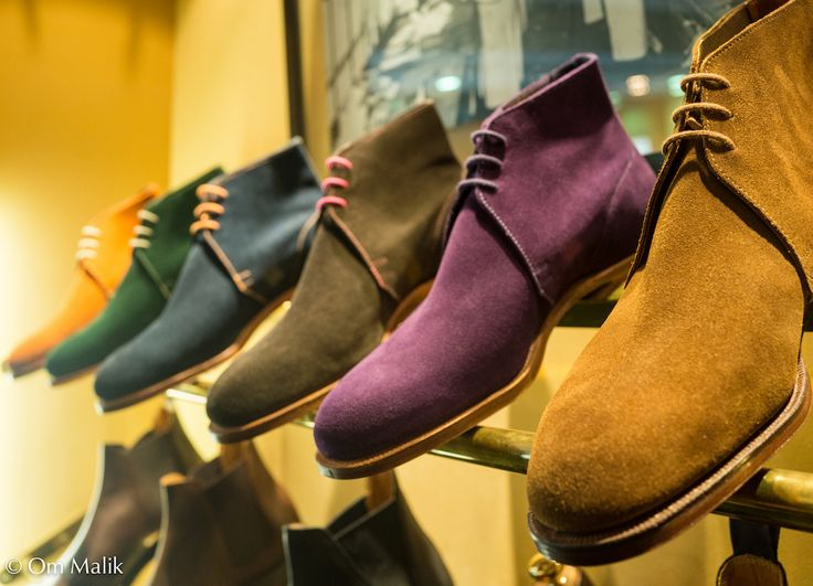 Colorful chukka boots
