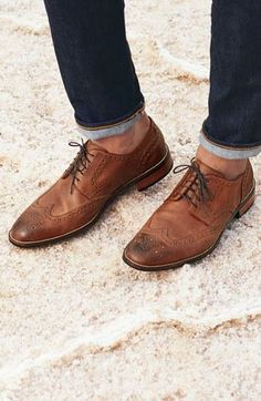 A pair of wingtip shoes