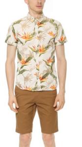 A Scotch & Soda short sleeve tropical print shirt